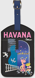 Havana Cuba - Cuban Rumba Dancer - Leatherette Luggage Tags