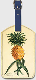 Ho'okipa, Hawaiian Pineapple - Hawaiian Leatherette Luggage Tags