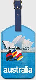 Australia Sydney Opera House - Leatherette Luggage Tags