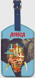 Africa Elephant - Leatherette Luggage Tags