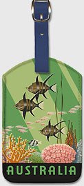 Queensland Australia Great Barrier Reef - Leatherette Luggage Tags