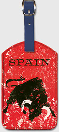 Spain - Spanish Bull Fighting - Leatherette Luggage Tags