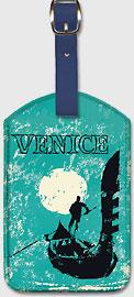 Venice - Italy - Venetian Gondola - Leatherette Luggage Tags