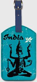 India - Four Arm Bodhisattva Holding Lotus Flower - Leatherette Luggage Tags