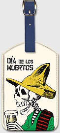 Dia de los Muertos (Day of the Dead) - Leatherette Luggage Tags
