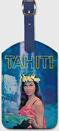 Tahiti - Leatherette Luggage Tags