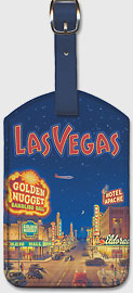 Las Vegas - Nevada - Leatherette Luggage Tags