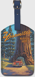 Mariposa Grove - Yosemite National Park - Wawona Tunnel Redwood Tree - Leatherette Luggage Tags