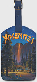 Yosemite's Fire Fall - Camp Curry - Glacier Point, Yosemite National Park - Leatherette Luggage Tags