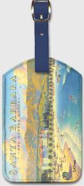 Santa Barbara - The Potter Hotel - California - Leatherette Luggage Tags