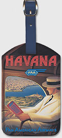 Havana, Cuba - Pan American Airways (PAA) - Leatherette Luggage Tags