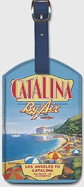 Catalina By Air - Los Angeles to Catalina - Leatherette Luggage Tags