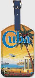 Visit Cuba - Pan American Airways (PAA) - Havana Bay - Morro Cabana - Leatherette Luggage Tags