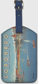 Coronado Island, California - Across the Bay from San Diego - Hotel Del Coronado - Sailing - Leatherette Luggage Tags