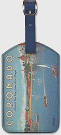 Coronado Island, California - Across the Bay from San Diego - Hotel Del Coronado - Sailing - Leatherette Luggage Tags