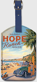 Santa Barbara's Hope Ranch Beach - Leatherette Luggage Tags