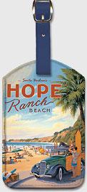 Santa Barbara's Hope Ranch Beach - Leatherette Luggage Tags