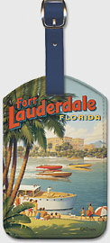 Fort Lauderdale, Florida - A Tropical Wonderland - Boat Racers - Yachting Capital of the World - Leatherette Luggage Tags