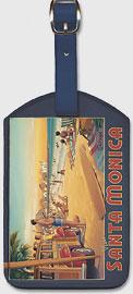 Visit Santa Monica - California - Santa Monica Pier - Leatherette Luggage Tags