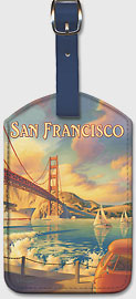 San Francisco - Leatherette Luggage Tags