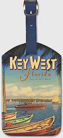 Key West - Florida - Leatherette Luggage Tags