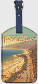 See the Sunny Scenic Pacific Coast - California - Pacific Electric (Red Car) - Worlds Greatest Electric Rail System - Leatherette Luggage Tags