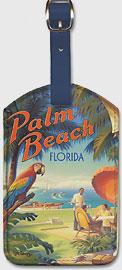 Palm Beach, Florida - Leatherette Luggage Tags