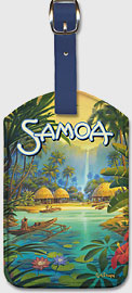 Samoa - Leatherette Luggage Tags