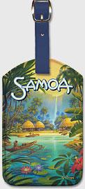 Samoa - Leatherette Luggage Tags