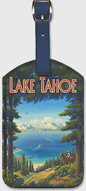 Lake Tahoe, California - Sierra Nevada Mountains - Riding, Boating, Swimming, Fishing, Hiking, Golf - Leatherette Luggage Tags