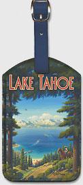 Lake Tahoe, California - Sierra Nevada Mountains - Riding, Boating, Swimming, Fishing, Hiking, Golf - Leatherette Luggage Tags