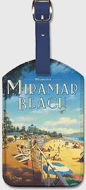 Montecito's Miramar Beach - California - Leatherette Luggage Tags