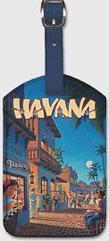 Havana, Cuba - Leatherette Luggage Tags