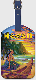Hawaii - Exotic Haena - Hawaiian Leatherette Luggage Tags
