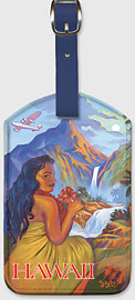 Touring Hawaii - Hawaiian Leatherette Luggage Tags