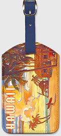 Lulu's Fish Shack - Hawaiian Leatherette Luggage Tags