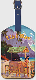 Tiki Bar Bali Hai - Hawaiian Leatherette Luggage Tags