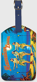 Hawaiian Luau - Hawaiian Leatherette Luggage Tags