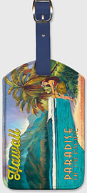 Exotic Hawaii - Hawaiian Leatherette Luggage Tags