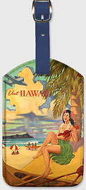 Visit Hawaii - Hawaiian Leatherette Luggage Tags