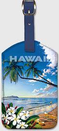Hawaii - Distant Shores - Hawaiian Leatherette Luggage Tags