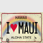 I Love Maui - Hawaii Magnet