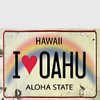 I Love Oahu - Hawaii Magnet