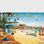 Waikiki Beach II - Hawaii Magnet