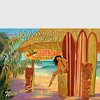 Come to Hawaii - Kona Surfboard Rentals - Hawaii Magnet