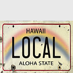 Local License Plate - Hawaii Magnet