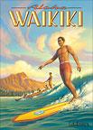 Aloha Waikiki - Hawaii Magnet
