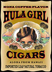 Hula Girl Cigars - Hawaii Magnet