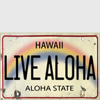 Live Aloha License Plate - Hawaii Magnet