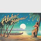 Aloha Hawaii (Moon) - Hawaii Magnet